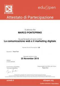 Attestato Comunicazione Web Marketing